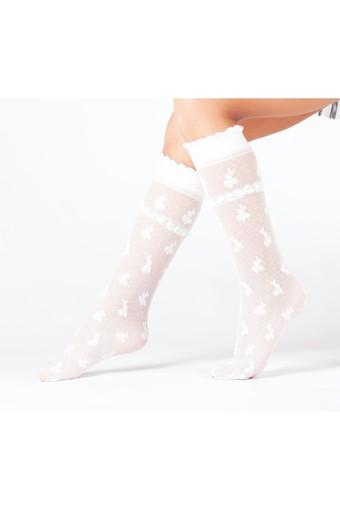 DAYMOD ÇORAP - Daymod Kız Çocuk İnce Dizaltı Çorap Damla Desenli (12 adet)