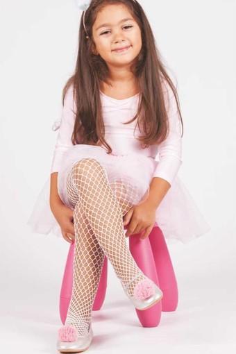 DAYMOD ÇORAP - Daymod Kız Çocuk İnce Dizaltı Çorap Pesca Aksesuarlı Desenli (12 adet)