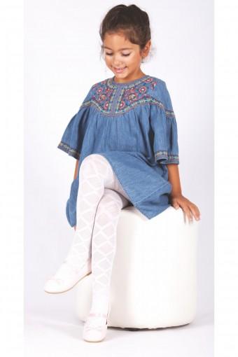 DAYMOD ÇORAP - Daymod Kız Çocuk İnce Külotlu Çorap Aleyna Desenli (6 adet) (1)