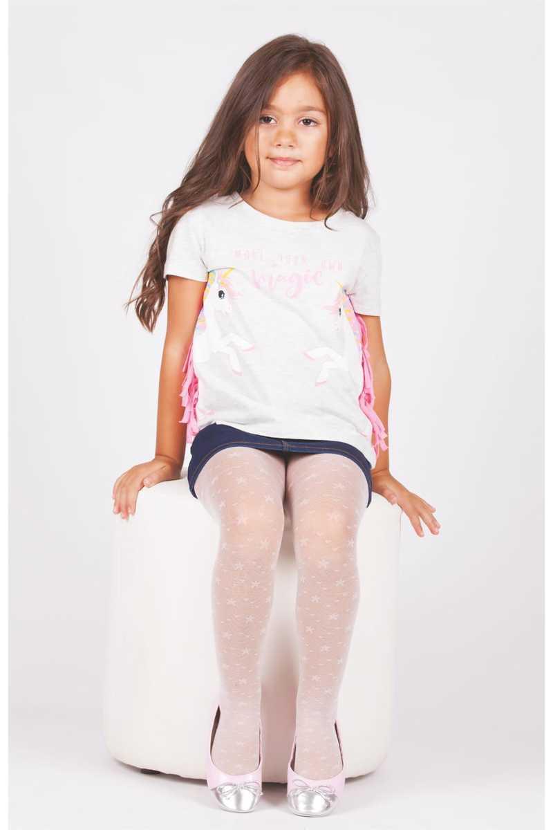 Daymod Kız Çocuk İnce Külotlu Çorap Buse Desenli (6 adet) - Thumbnail