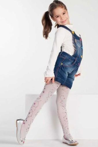 DAYMOD ÇORAP - Daymod Kız Çocuk İnce Külotlu Çorap Çiğdem Baskılı (6 adet)