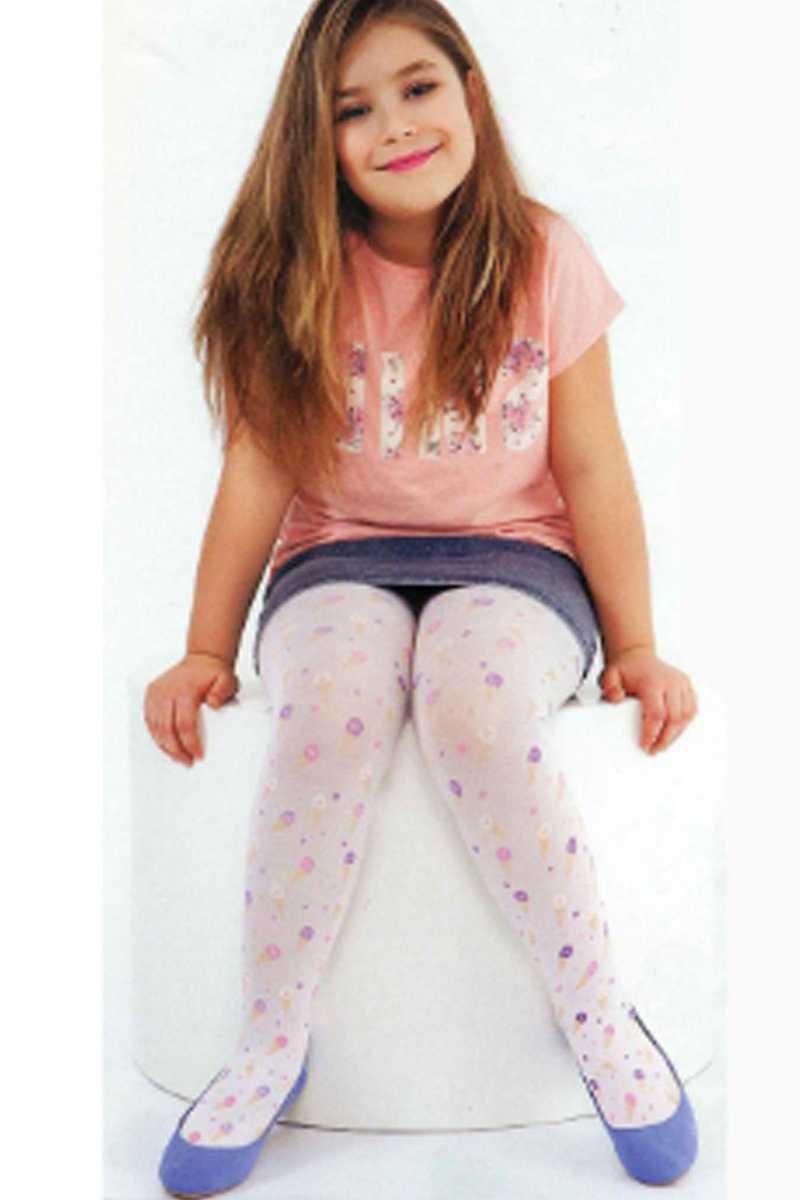 Daymod Kız Çocuk İnce Külotlu Çorap Dondurmam (6 adet) - Thumbnail
