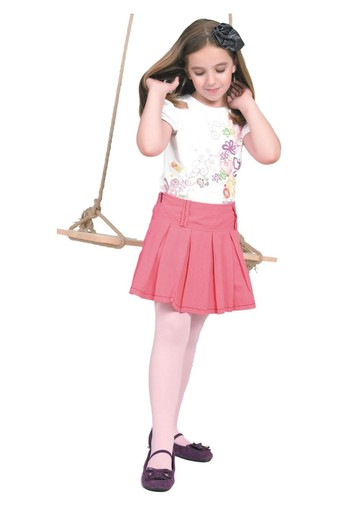 DAYMOD ÇORAP - Daymod Kız Çocuk İnce Külotlu Çorap Düz Mikro 50 (6 adet)