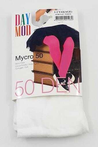 DAYMOD ÇORAP - Daymod Kız Çocuk İnce Külotlu Çorap Düz Mikro 50 (6 adet) (1)