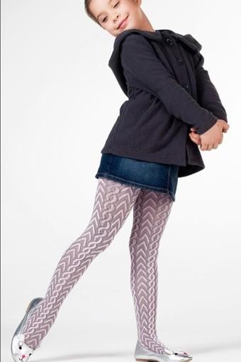 DAYMOD ÇORAP - Daymod Kız Çocuk İnce Külotlu Çorap Eylül File Desenli (6 adet)