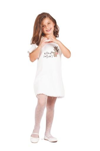 DAYMOD ÇORAP - Daymod Kız Çocuk İnce Külotlu Çorap Gökkuşağı Desenli Tül File (6 adet)