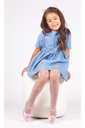 DAYMOD ÇORAP - Daymod Kız Çocuk İnce Külotlu Çorap Güneş Desenli Simli (6 adet)