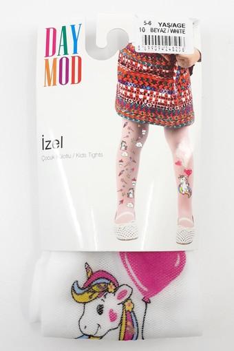 DAYMOD ÇORAP - Daymod Kız Çocuk İnce Külotlu Çorap İzel Desenli Tül DM2125142 (6 adet)