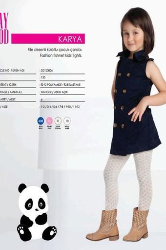 DAYMOD ÇORAP - Daymod Kız Çocuk İnce Külotlu Çorap Karya File Desenli (6 adet)