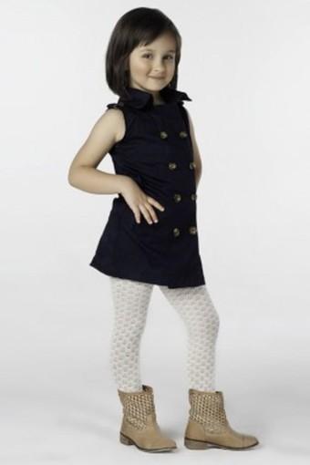 DAYMOD ÇORAP - Daymod Kız Çocuk İnce Külotlu Çorap Karya File Desenli (6 adet) (1)