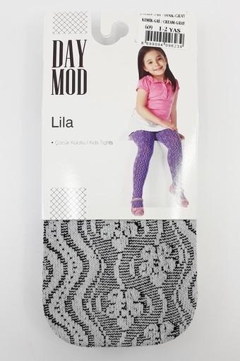 DAYMOD ÇORAP - Daymod Kız Çocuk İnce Külotlu Çorap Lila File Desenli (6 adet)