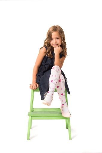 DAYMOD ÇORAP - Daymod Kız Çocuk İnce Külotlu Çorap Love Me Desenli Mikro (6 adet)