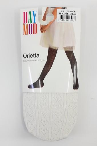 DAYMOD ÇORAP - Daymod Kız Çocuk İnce Külotlu Çorap Orietta File Desenli (6 adet)