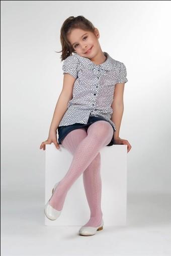 DAYMOD ÇORAP - Daymod Kız Çocuk İnce Külotlu Çorap Oya Desenli (6 adet)