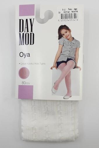 DAYMOD ÇORAP - Daymod Kız Çocuk İnce Külotlu Çorap Oya Desenli (6 adet) (1)