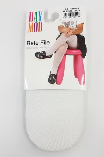DAYMOD ÇORAP - Daymod Kız Çocuk İnce Külotlu Çorap Rete File (6 adet) (1)