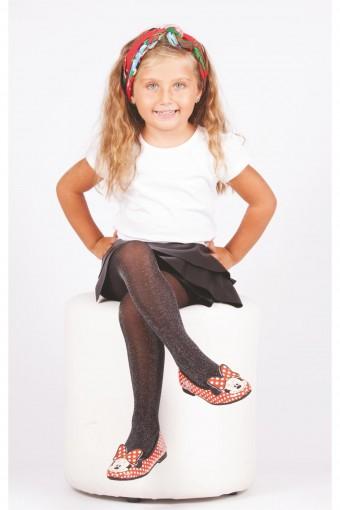 Daymod Kız Çocuk İnce Külotlu Çorap Sim Multi Renkli Simli (6 adet) - Thumbnail