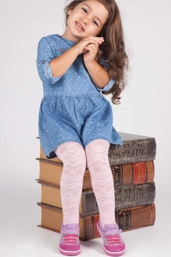 DAYMOD ÇORAP - Daymod Kız Çocuk İnce Külotlu Çorap Simge Desenli (6 adet)