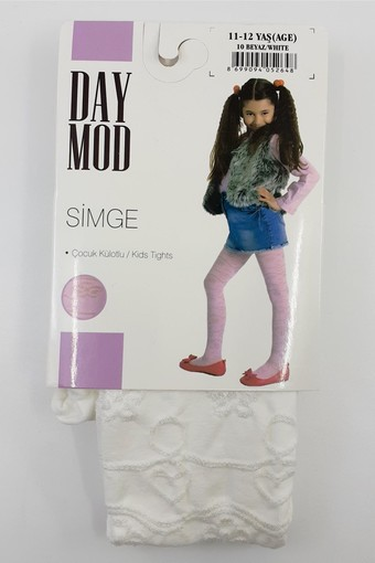 DAYMOD ÇORAP - Daymod Kız Çocuk İnce Külotlu Çorap Simge Desenli (6 adet) (1)