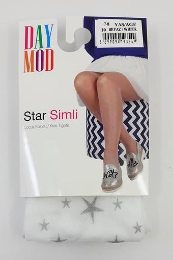 DAYMOD ÇORAP - Daymod Kız Çocuk İnce Külotlu Çorap Star Simli (6 adet)