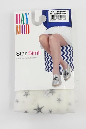 DAYMOD ÇORAP - Daymod Kız Çocuk İnce Külotlu Çorap Star Simli (6 adet) (1)