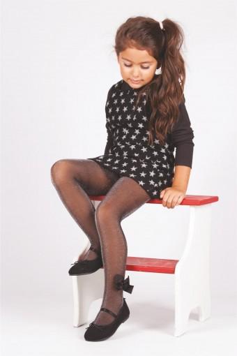 DAYMOD ÇORAP - Daymod Kız Çocuk İnce Külotlu Çorap Sun Fiyonk Aksesuarlı (6 adet) (1)