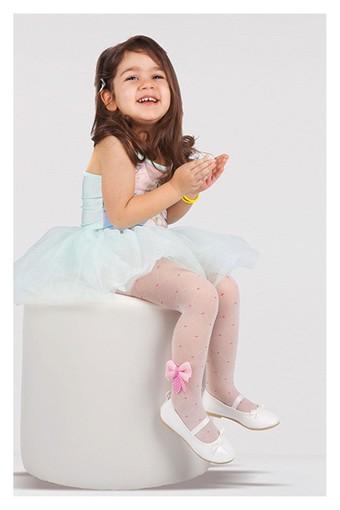 DAYMOD ÇORAP - Daymod Kız Çocuk İnce Külotlu Çorap Tül File Fiyonk Aksesuarlı (6 adet)