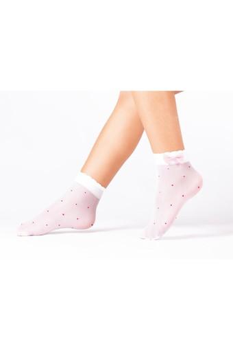 DAYMOD ÇORAP - Daymod Kız Çocuk İnce Soket Çorap İrem Aksesuarlı Desenli (12 adet)
