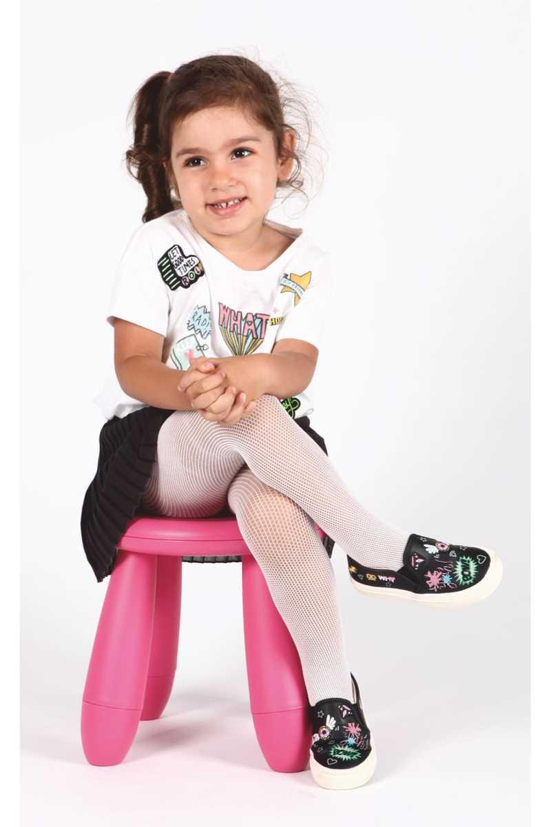 Daymod Kız Çocuk İnce Soket Çorap Rete File Desenli (12 adet) - Thumbnail