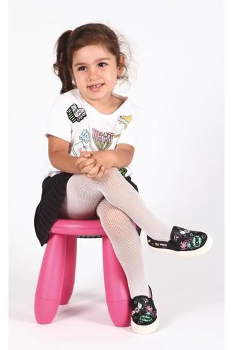 DAYMOD ÇORAP - Daymod Kız Çocuk İnce Soket Çorap Rete File Desenli (12 adet)