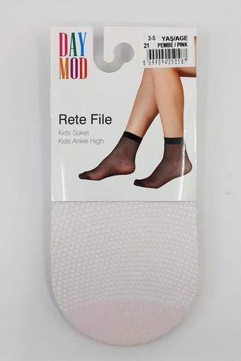 DAYMOD ÇORAP - Daymod Kız Çocuk İnce Soket Çorap Rete File Desenli (12 adet) (1)