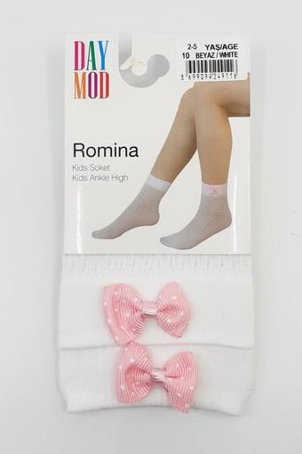 DAYMOD ÇORAP - Daymod Kız Çocuk İnce Soket Çorap Romina File Desenli (12 adet)