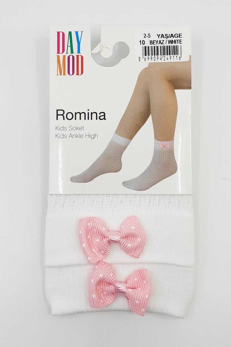 Daymod Kız Çocuk İnce Soket Çorap Romina File Desenli (12 adet) - Thumbnail