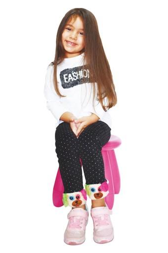 DAYMOD ÇORAP - Daymod Kız Çocuk Tayt (Çorap) Köpekli (6 adet)