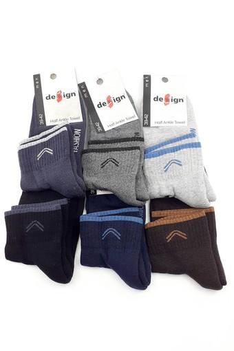 DESİGN - Design Erkek Çocuk Garson Boy Yarım Konç Çorap Fashion Havlu (12 adet)