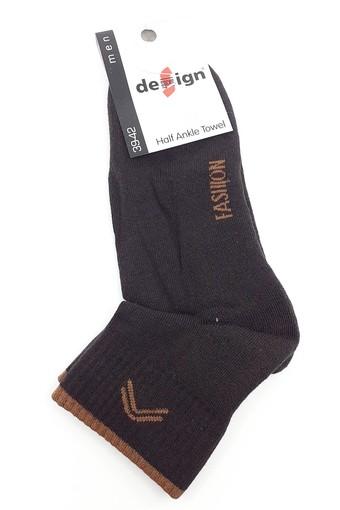 DESİGN - Design Erkek Çocuk Garson Boy Yarım Konç Çorap Fashion Havlu (12 adet) (1)