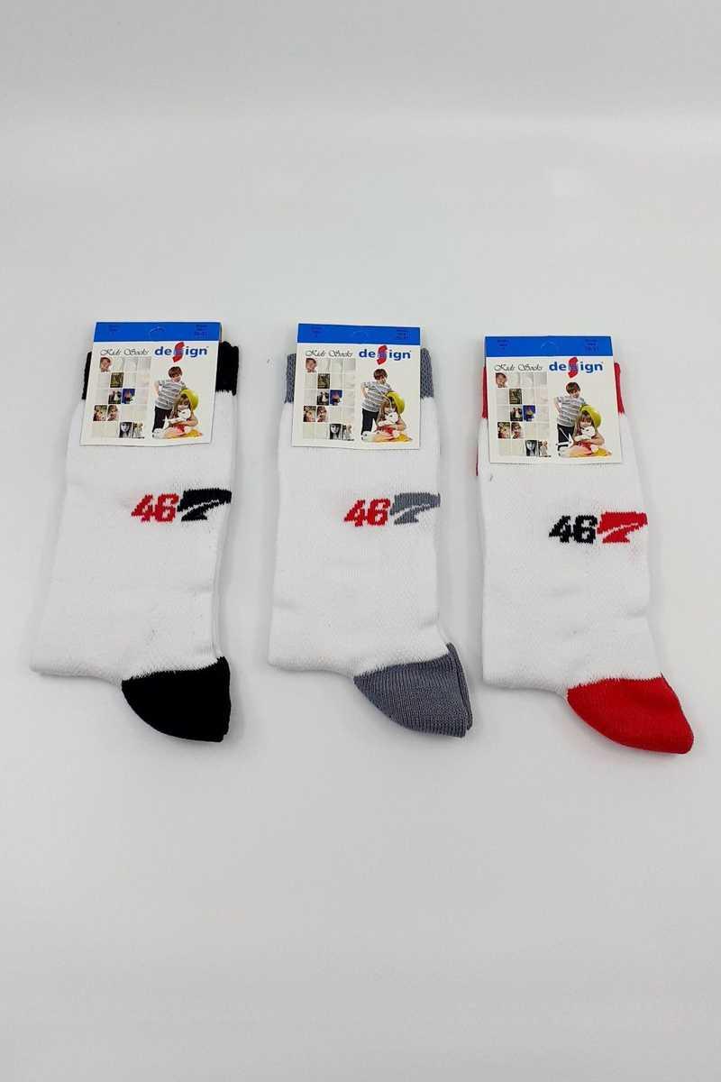 Design Erkek Çocuk Soket Çorap Lacoste-9 Likralı (DESIGN7011) - Thumbnail