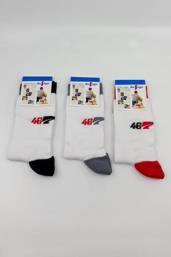 DESIGN - Design Erkek Çocuk Soket Çorap Lacoste-9 Likralı (DESIGN7011)