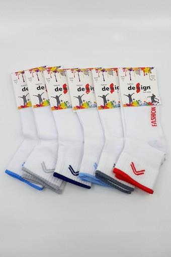 DESİGN - Design Erkek Çocuk Yarım Konç Çorap Fashıon (12 adet)
