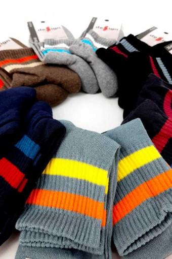 DESIGN - Design Erkek Garson Yarım Konç Çorap Çember Havlu (12 adet) (1)