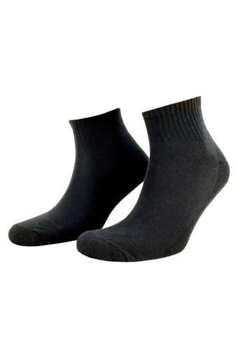 DESIGN - Design Erkek Garson Yarım Konç Çorap Düz Havlu