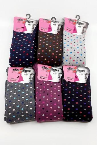 DESİGN - Design Kadın Pantolon Çorabı Havlu Puan-9 (6 adet) (1)