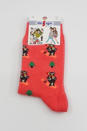 DESİGN - Design Kız Çocuk Soket Çorap Çam Ayı Likralı (12 adet) (1)