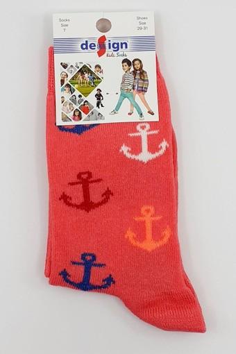 DESİGN - Design Kız Çocuk Soket Çorap Likralı Renkli Çapa (12 adet) (1)