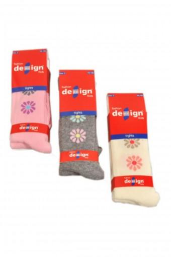 DESIGN - Design Kız Çocuk Yarım Konç Çorap Puan Papatya DESIGN5111045 (12 adet)