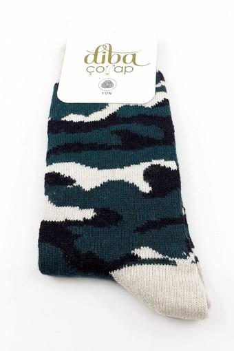 DİBA - Diba Kadın Soket Çorap Lambswool Desenli (12 adet) (1)