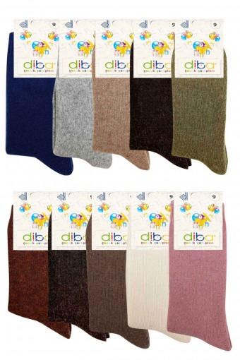 Diba Unisex Çocuk Soket Çorap Lambswool Lykralı (12 adet) - Thumbnail