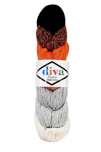 DIVA - Diva Makrome İpliği Puzzle Pamuk 250 Gr. 200 Mt. (1)