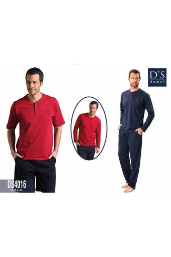 DS DAMAT - Ds Damat Erkek Çeyizlik 4′lü Pijama Takımı DS4016 (1)