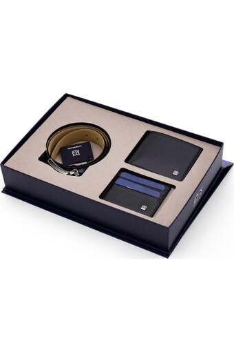 DS DAMAT - Ds Damat Erkek Cüzdan Kemer Kartlık Set DS902